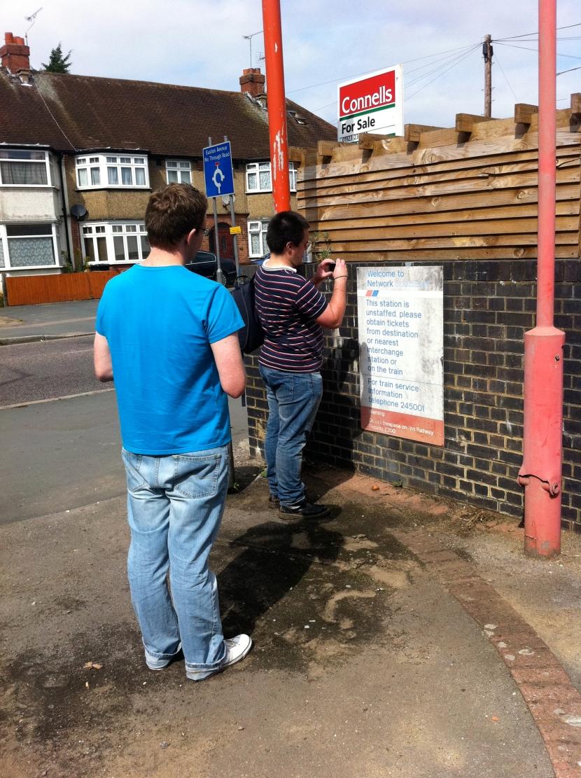 Robert and Scott at Watford West