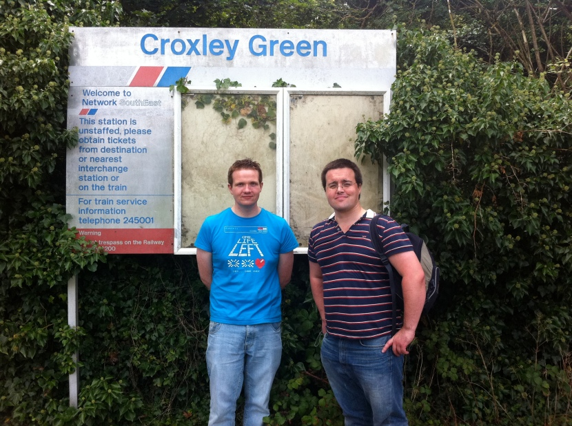 Robert and Scott at Croxley Green