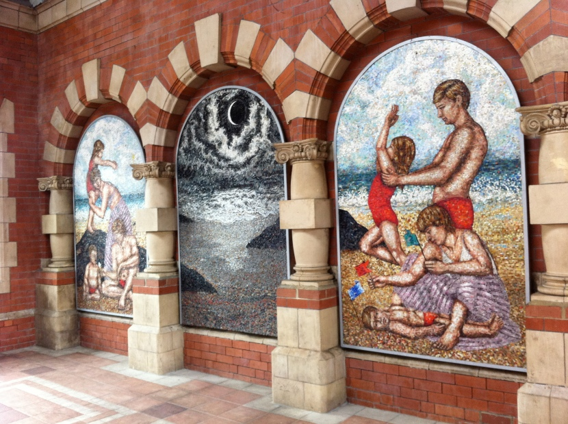 Mosaic at Whitley Bay station